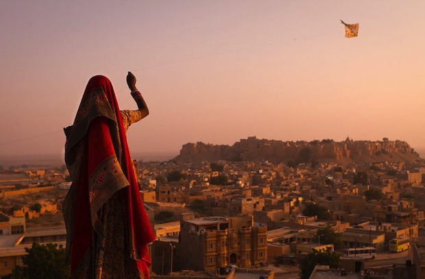 Pin It: Flying over Jaisalmer