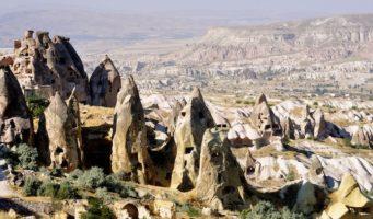 In Turkey, Wine Hop Between Fairy Chimneys