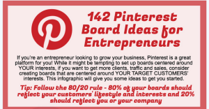 Pinterest entrpreneur board