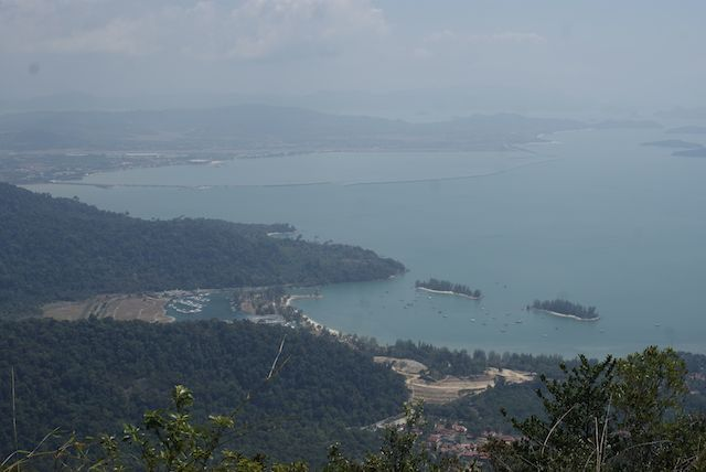 view from cable car, langkawi