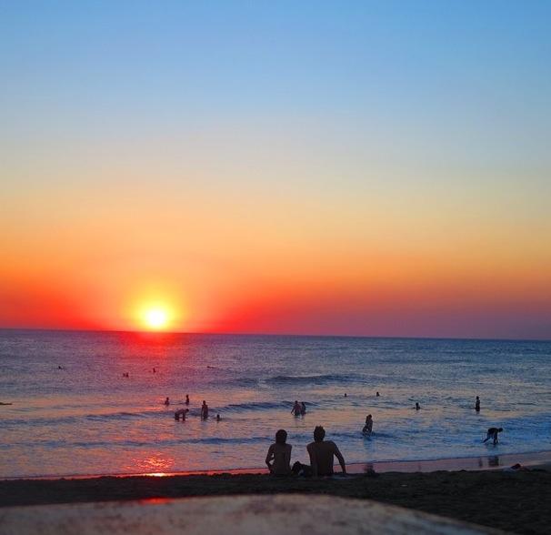 multicolored sunset in Las Penitas