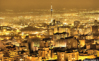 Tehran at night_Photo by Arash Razzagh Karimi