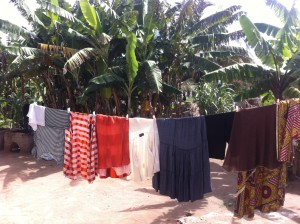 minimalist living - drying clothes in the sun ghana