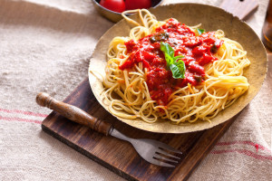 chunks in my pasta sauce