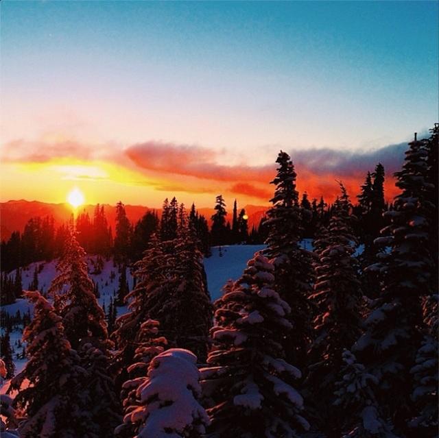 Global Yodel - Winter sunset