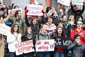 McGill student vote mob 2011