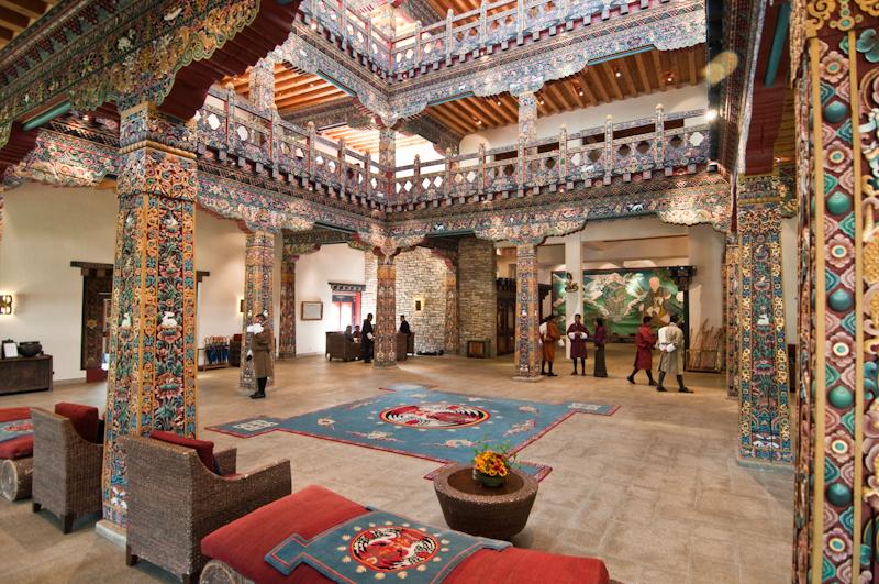 Bhutan, Paro, Zhiwa Ling Hotel, Main Building