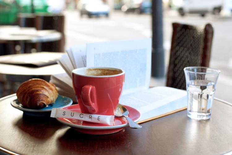 Coffee in European Cafe