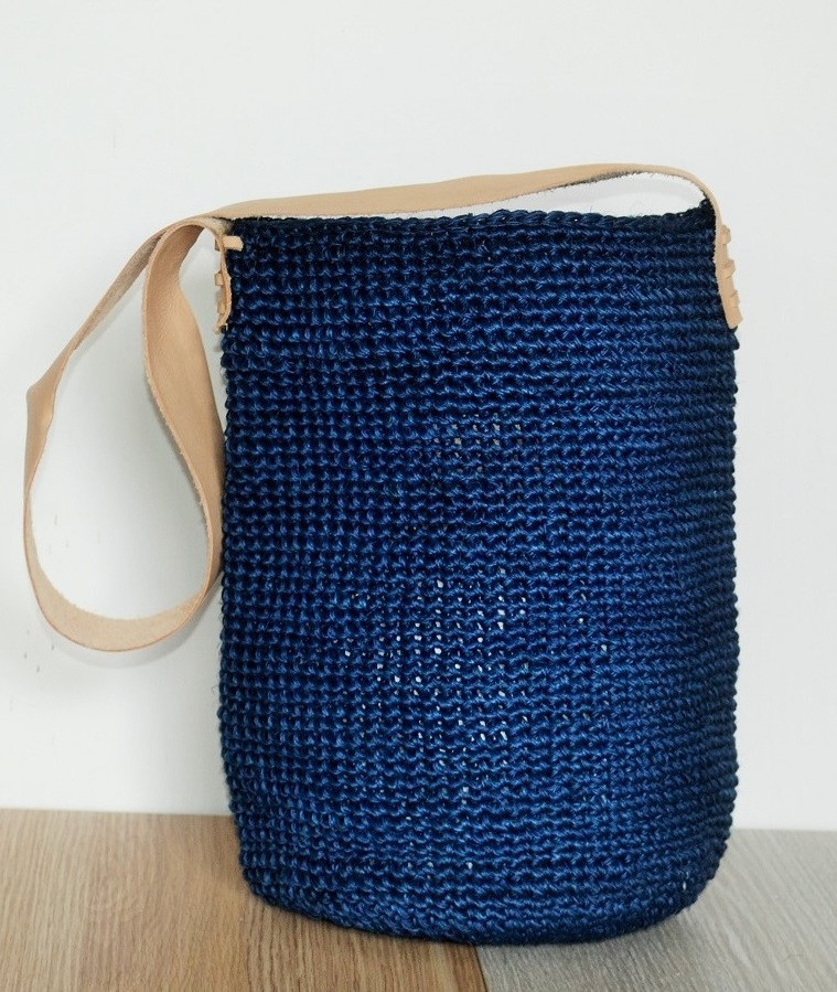 Baru Eco Mochila Bag, $109 USD - Fair trade hand-crocheted and hand-dyed mochila bag made with sustainably harvested natural fiber. Your purchase empowers artisans in Colombia living in poverty.