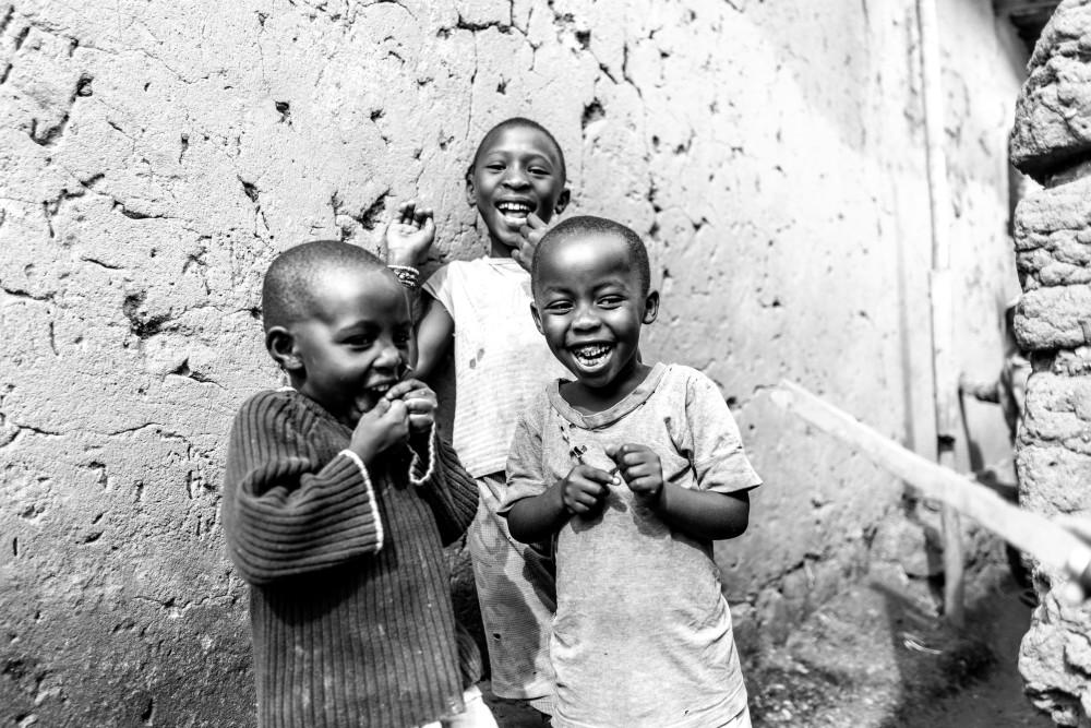 Laughter Black + White