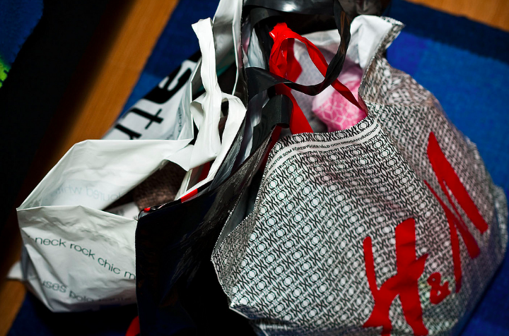 Shopping bags photo via Creative Commons