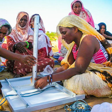 African women at Barefoot College