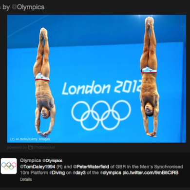 2012 Olympics Twitter Diving