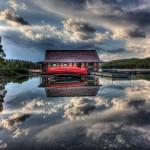Ken Kaminesky - Maligne Lake boathouse in Jasper National Park, Alberta, Canada