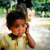 little girl in india