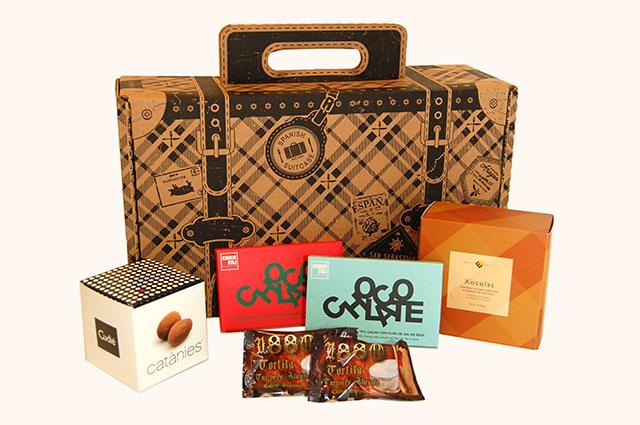 spanish suitcase la vida dulce carryon