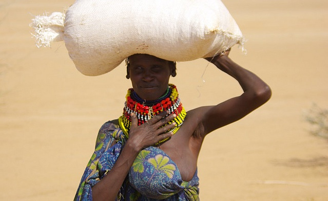 woman starving africa