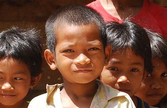 cambodian village kids