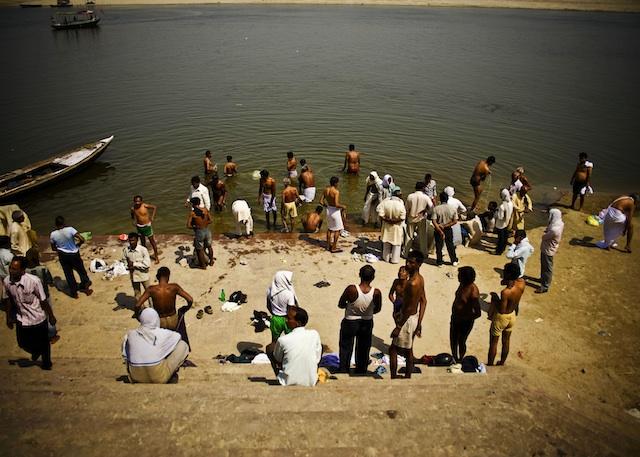 Steps Ganges River