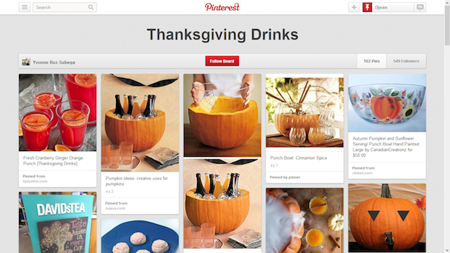 Thanksgiving drinks pinterest