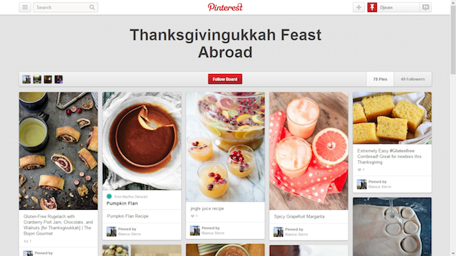 Thanksgivingkah Pinterest Board