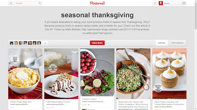 Seasonal thanksgiving pinterest