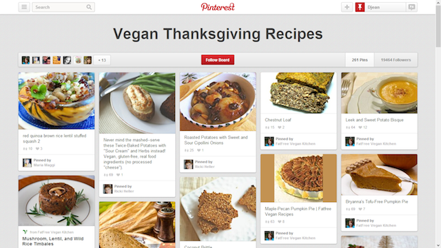 Vegan Thanksgiving Pinterest