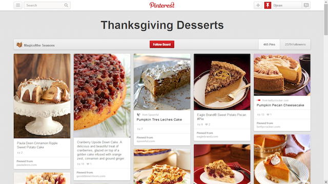 Thanksgiving desserts pinterest