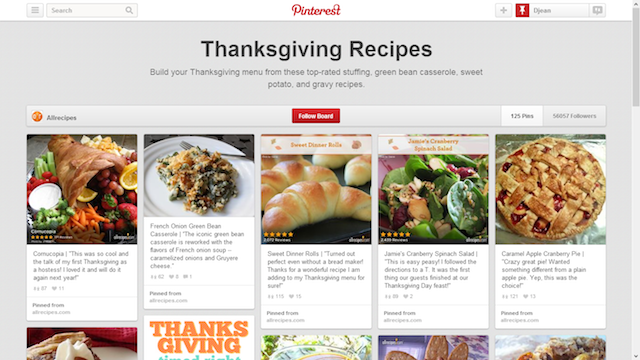 Thanksgiving recipes pinterest