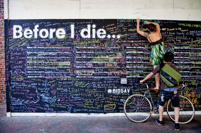 before i die art installation