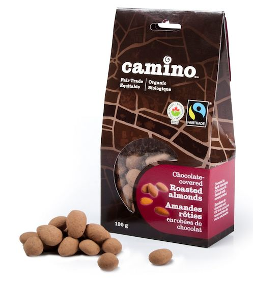 Camino fair trade organic chocolate covered almonds