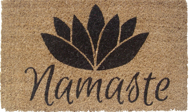 namaste welcome mat