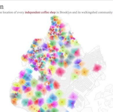 Map of indie coffee shops in brooklyn