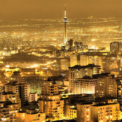 Tehran at night_Photo by Arash Razzagh Karimi