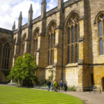 Outside of New College chapel Oxford