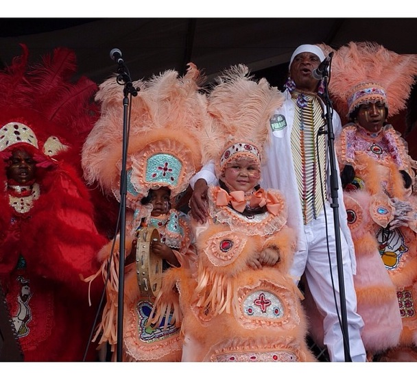 young Creole performers