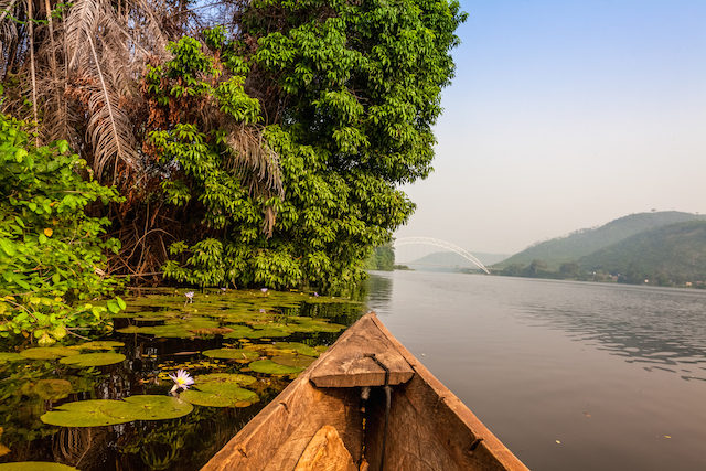 canoe ride in ghana