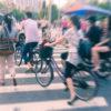 pedestrians at zebra crossing