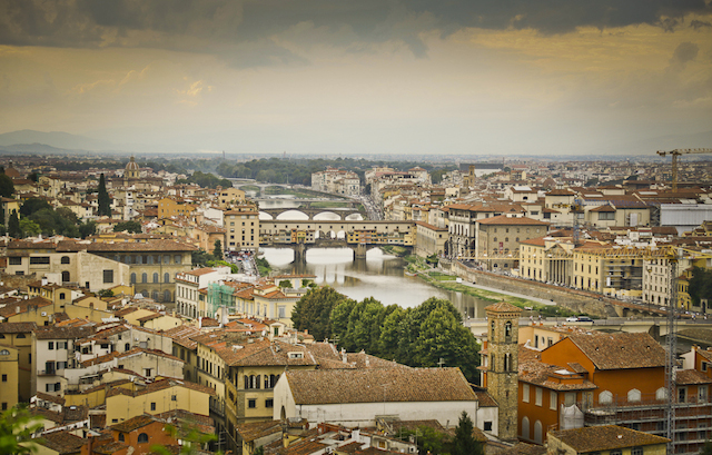 ariel view of florence