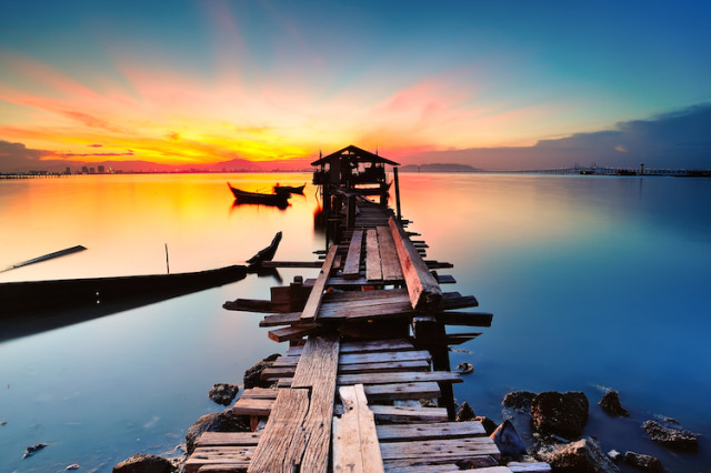 Long fishing pier Penang