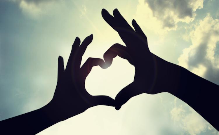 heart shape in sky