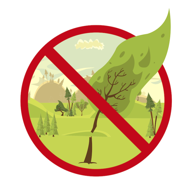 sign stop cutting trees