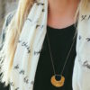 able scarf and necklace