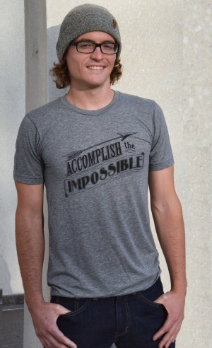 men's accomplish the impossible men's tee