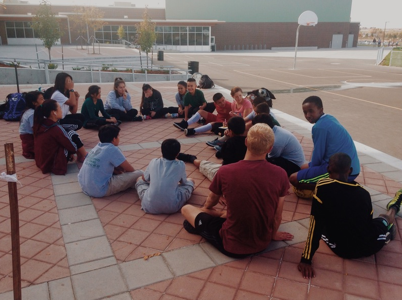 Soccer WIthout Borders Opening Circle