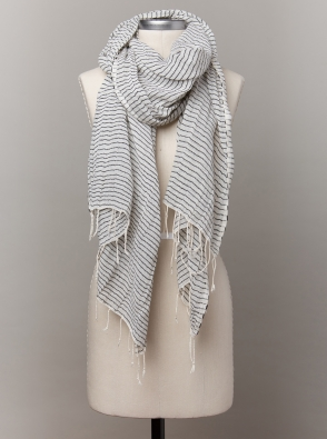 Sisay Striped Scarf, $38 - Handwoven in Ethiopia and made from 100% Egyptian cotton