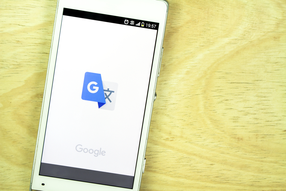 Google Translate App via Jakraphong Photography/ Shutterstock.com