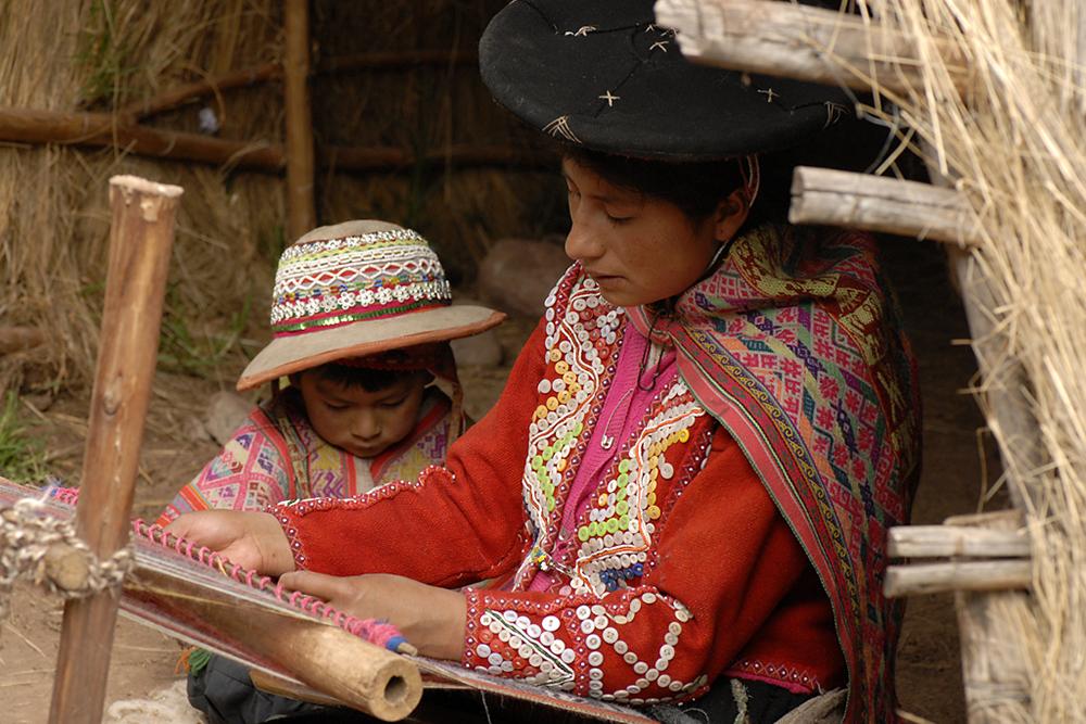 Quechua weavers Awana Kancha Pisaq, Peru