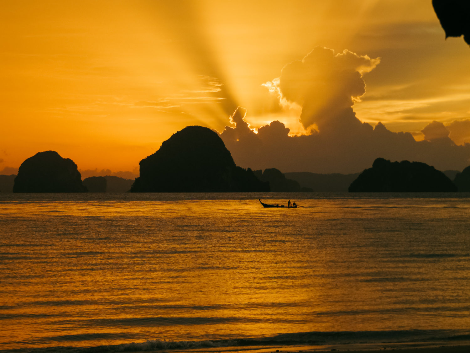 hong islands sunset